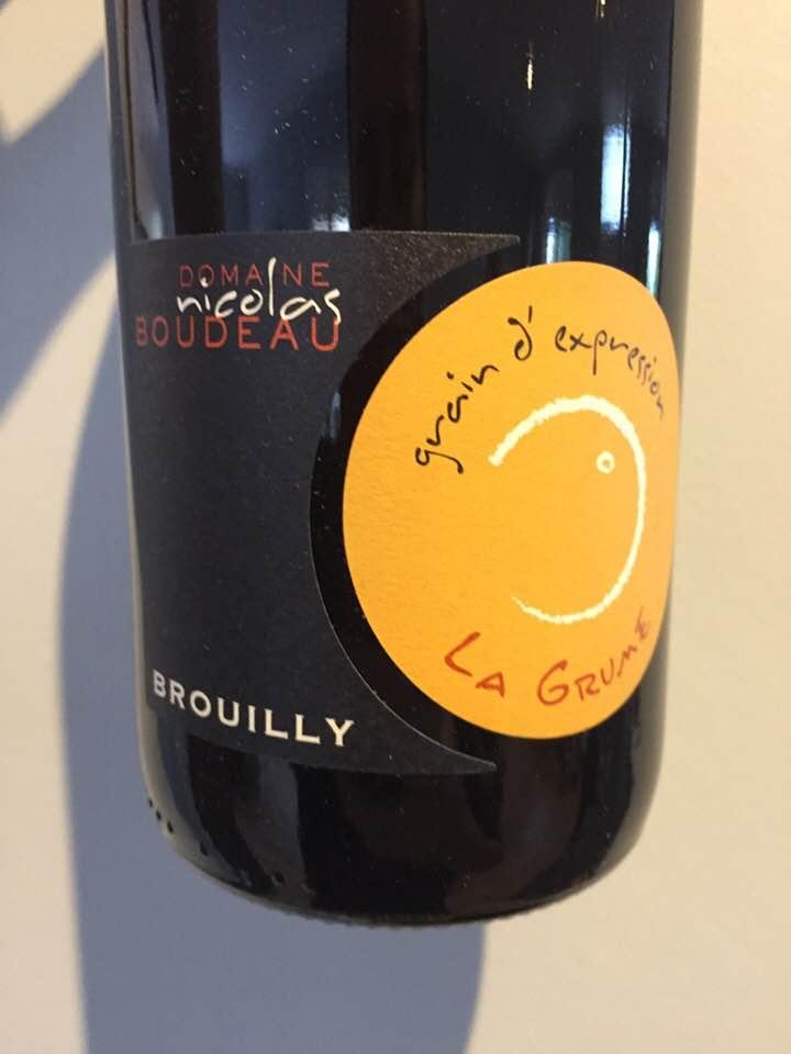 Domaine Nicolas Boudeau – Grain D'Expression 2017, La Grume – Brouilly