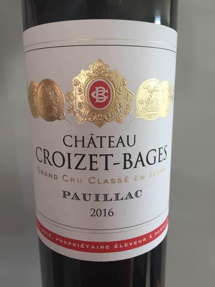Château Croizet-Bages 2016 – Pauillac, Cru Classé