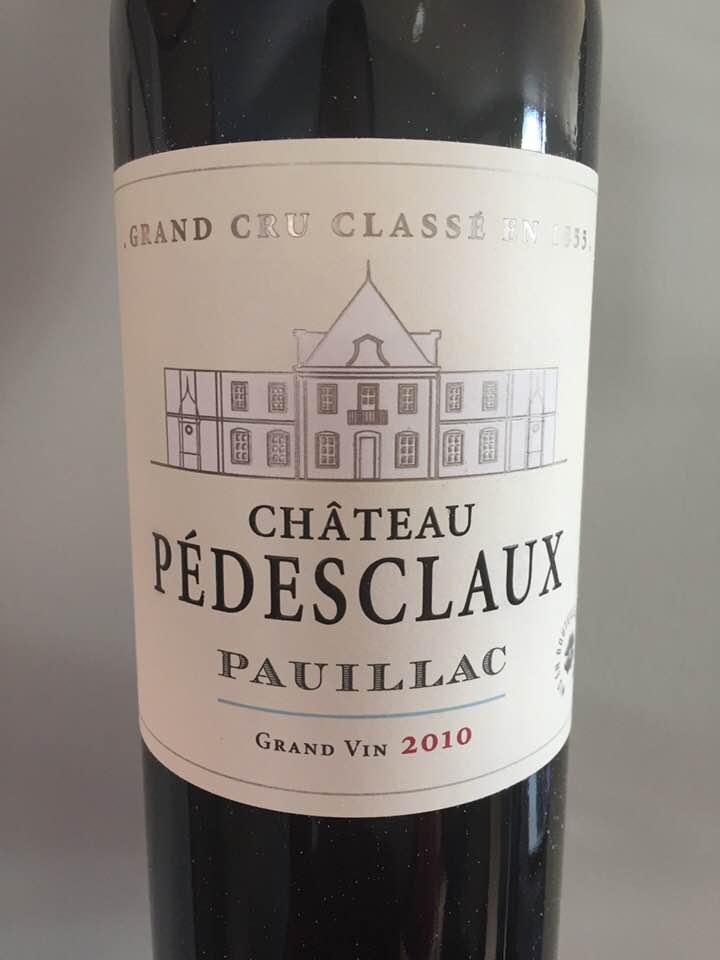 Château Pedesclaux 2010 – Pauillac, Cru Classé