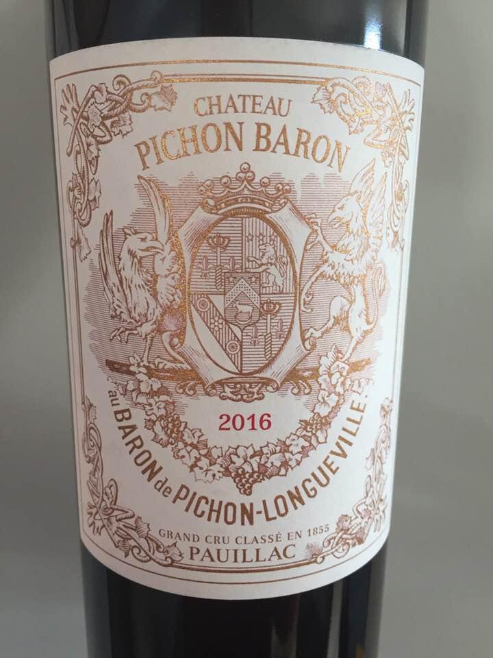 Château Pichon Baron 2016 – Pauillac, Cru Classé