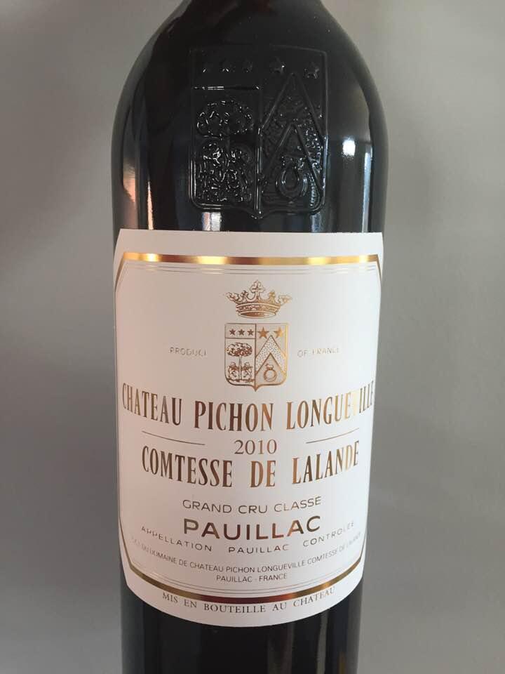 Château Pichon Longueville Comtesse de Lalande 2010 – Pauillac, Cru Classé :