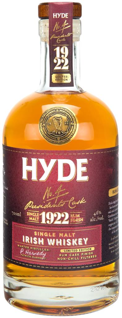 Hyde – N°4 Presidents Cask 1922 – Single Malt, Irish Whiskey