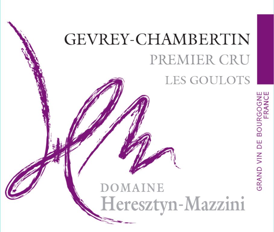 Domaine Heresztyn Mazzini – Les Goulots 2017– Gevrey Chambertin, 1er Cru