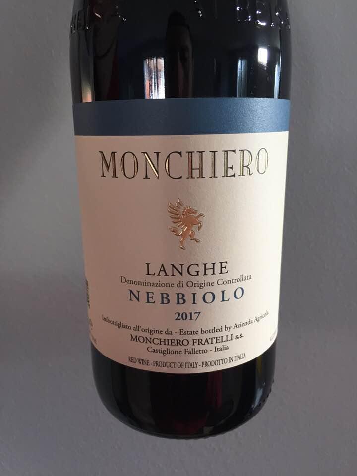 Monchiero – Nebbiolo 2017 – Langhe