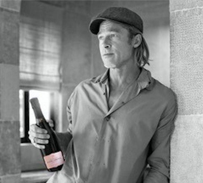 """Brad Pitt reveals his Rosé Champagne """" Fleur de Miraval """""""