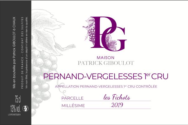 Maison Patrick Giboulot – Les Fichots 2019 – Pernand-Vergelesse 1er Cru